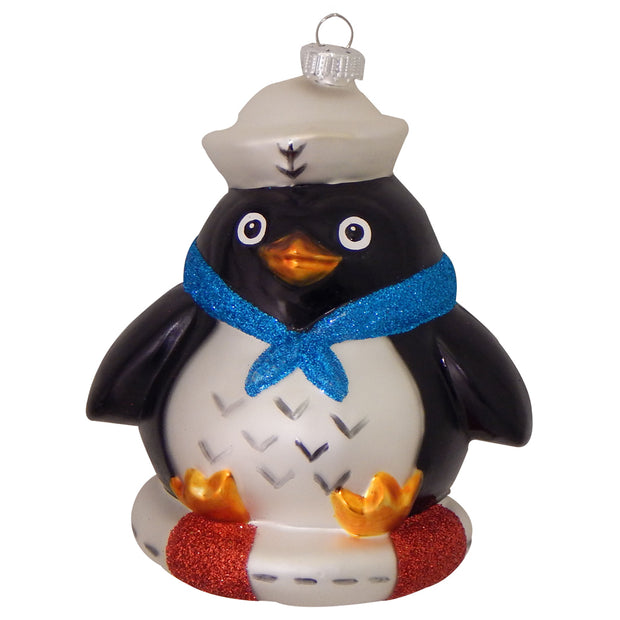 Sailor Penguin Figurine Ornaments, 1/Box, 6/Case, 6 Pieces