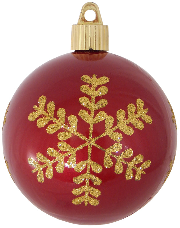 "3 1/4"" (80mm) Commercial Shatterproof Ball Ornament, Candy Red, Case, 36 Pieces"