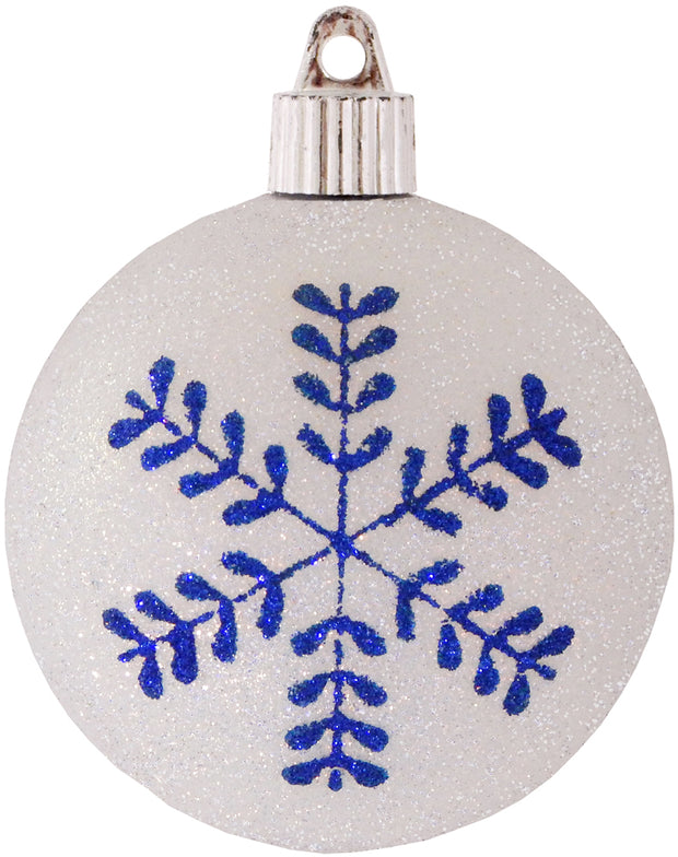 "3 1/4"" (80mm) Commercial Shatterproof Ball Ornament, Snowball Glitter, Case, 36 Pieces - Christmas by Krebs Wholesale"