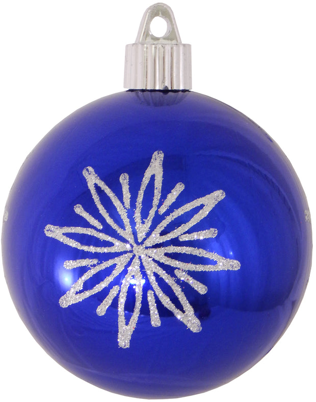 "3 1/4"" (80mm) Commercial Shatterproof Ball Ornament, Azure Blue, Case, 36 Pieces - Christmas by Krebs Wholesale"