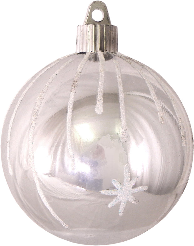 "3 1/4"" (80mm) Commercial Shatterproof Ball Ornament, Looking Glass, Case, 36 Pieces"