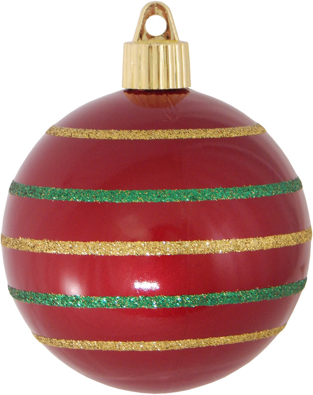 "3 1/4"" (80mm) Commercial Shatterproof Ball Ornament, Candy Red, Case, 36 Pieces   Christmas by Krebs Wholesale"