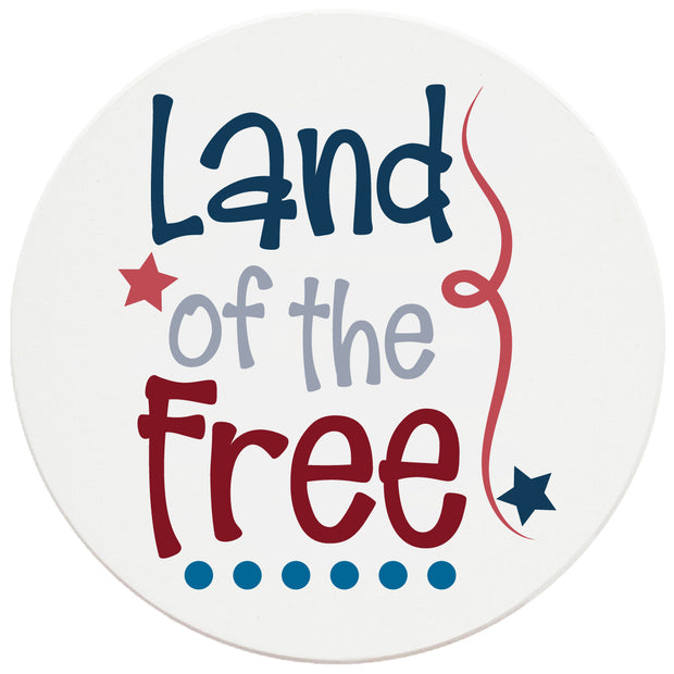 4 Inch Round Ceramic Land of the Free, 2 Sets of 4, 8 Pieces - Christmas by Krebs Wholesale