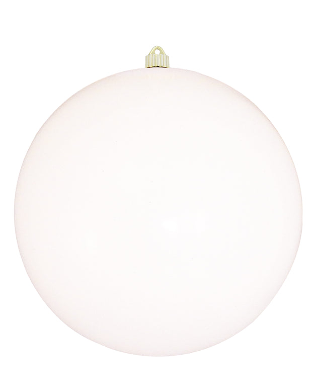 "12"" (300mm) Shatterproof Ball Ornaments, Pure White, 1/Ea, 2/Case, 2 Pieces"
