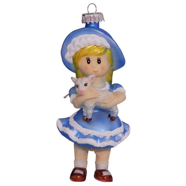 "5"" (127mm) Mary with Lamb Figurine Ornaments, 1/Box, 6/Case, 6 Pieces"