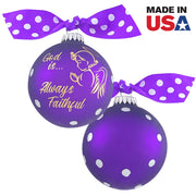 "3 1/4"" (80mm) Personalizable Hugs Specialty Gift Ornaments, God is Always Faithful, Purple Magic, 1/Box, 12/Case, 12 Pieces - Christmas by Krebs Wholesale"