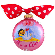 "3 1/4"" (80mm) Hugs Specialty Gift Ornaments, It's a Girl, Tickle Pink, 1/Box, 12/Case, 12 Pieces - Christmas by Krebs Wholesale"