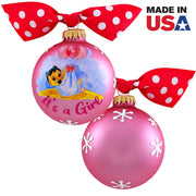"3 1/4"" (80mm) Personalizable Hugs Specialty Gift Ornaments, It's a Girl, Tickle Pink, 1/Box, 12/Case, 12 Pieces - Christmas by Krebs Wholesale"