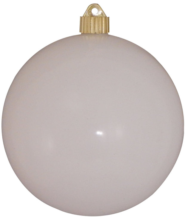 "8"" (200mm) Giant Commercial Shatterproof Ball Ornament, Pure White, Case, 6 Pieces - Christmas by Krebs Wholesale"
