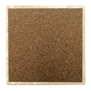 "4"" Absorbent Stone Coffee Gift Coasters, Coffee Because It's Monday, 2 Sets of 4, 8 Pieces"