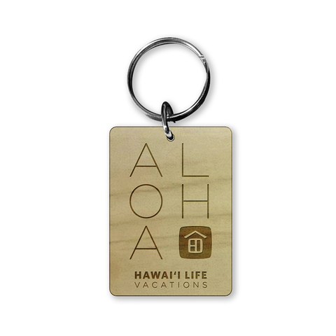 Vacation Rental ALOHA Keychain