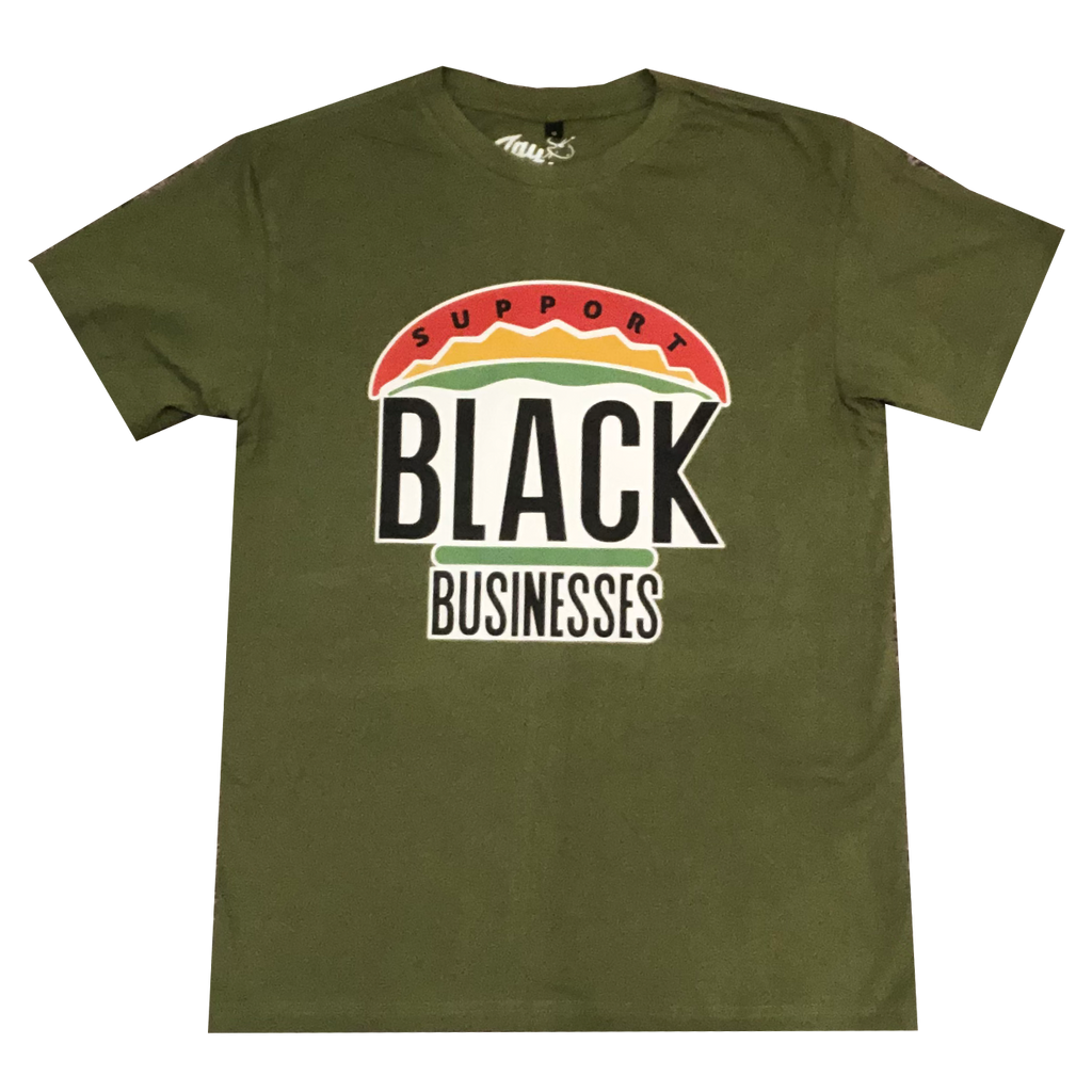 "ZC ""Support Black Businesses"" Tee (OLIVE)"