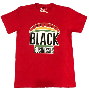 "ZC ""Support Black Businesses"" Tee (RED)"