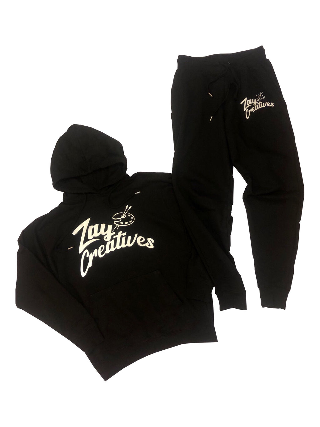 "(PREORDER) Zay Creatives ""Black"" Sweatsuit (Reflective)"