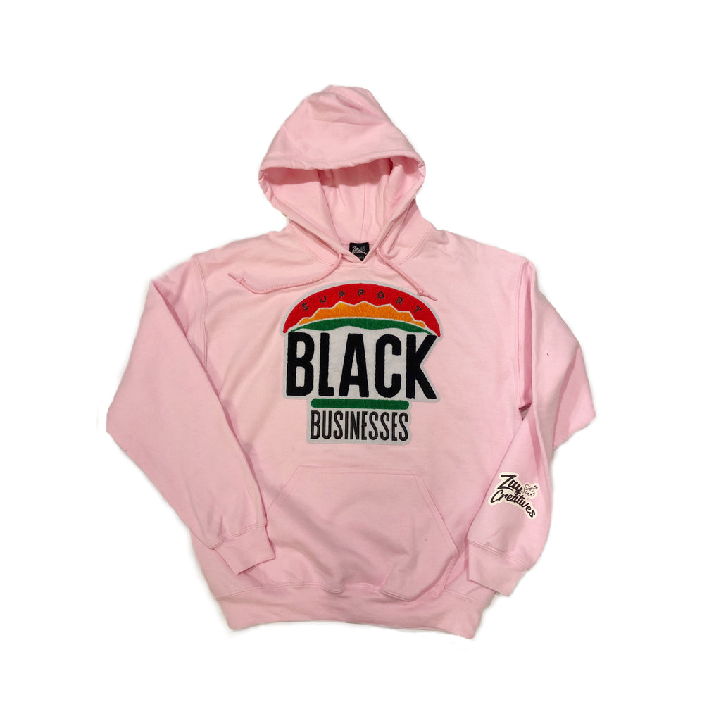 "ZC ""Support Black Businesses"" Hoodie PINK (PREORDER)"