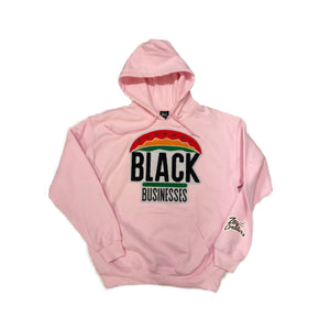 "ZC ""Support Black Businesses"" Hoodie (PINK)"