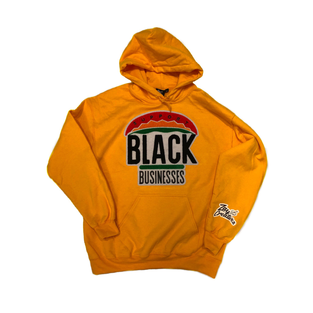 "ZC""Support Black Businesses"" Hoodie GOLD (PREORDER)"