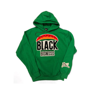 "ZC ""Support Black Businesses"" Hoodie (GREEN)"