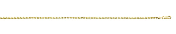 10K YG 2.1MM ROPE CHAIN 24''