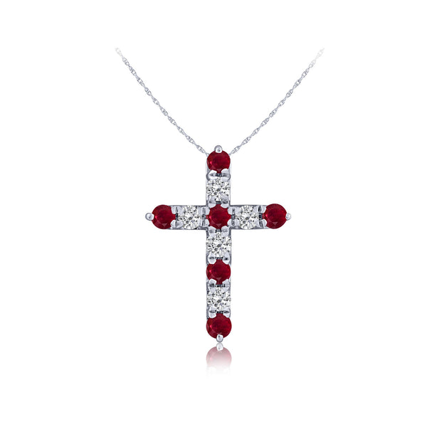 Ruby & Diamond Cross
