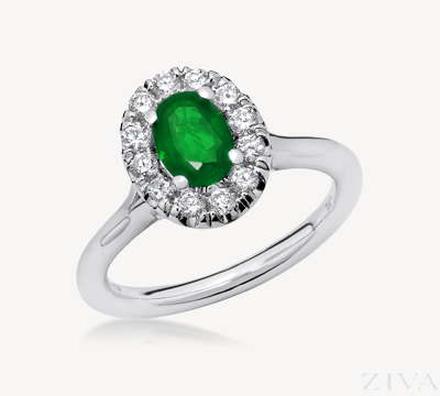 Vintage Emerald and Diamond Ring