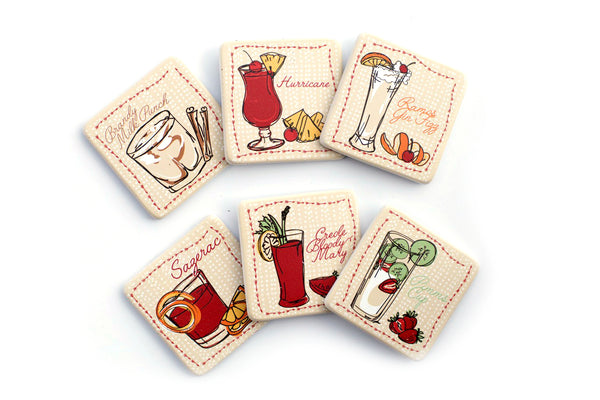 New Orleans Cocktail Coasters
