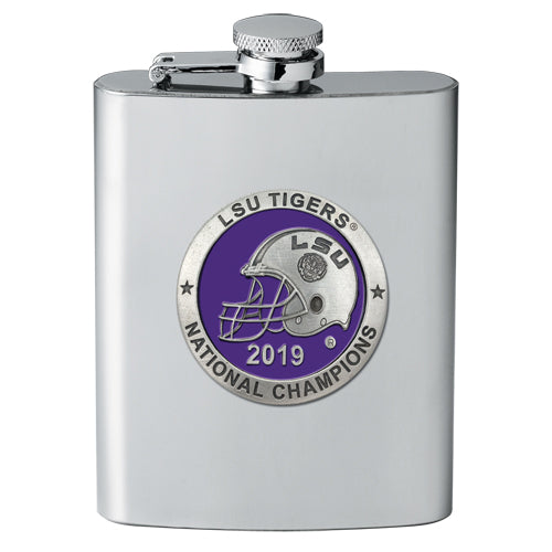 LSU 2019 National Championship Flask