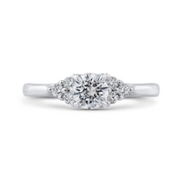 14K White Gold Round Diamond Classic Engagement Ring