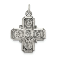 Sterling Silver Antiqued Reversible 4-Way Medal