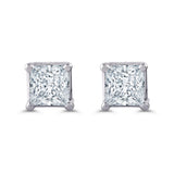 Princess Cut Diamond Earrings 3/4CTW
