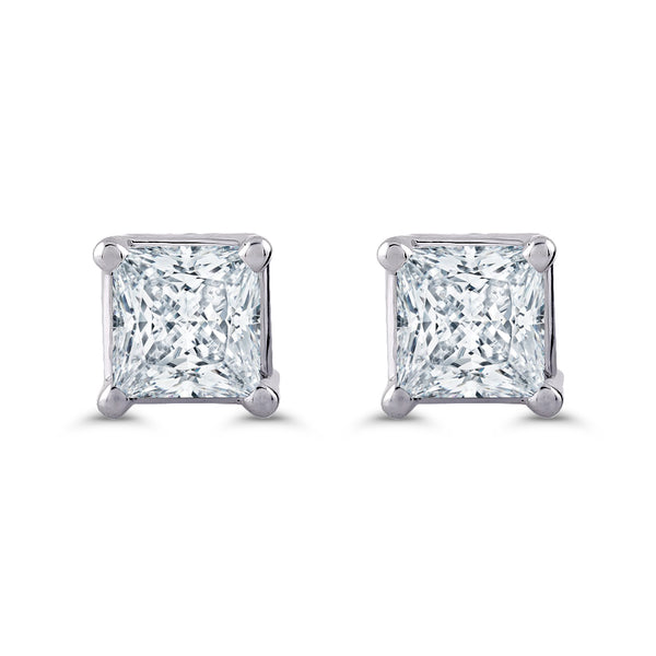 Princess Cut Diamond Earrings 1/3 CTW