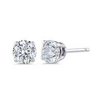 ROUND BRILLIANT DIAMOND STUD EARRINGS (3/4 CTW)