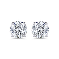 ROUND BRILLIANT DIAMOND STUD EARRINGS (1 CTW)