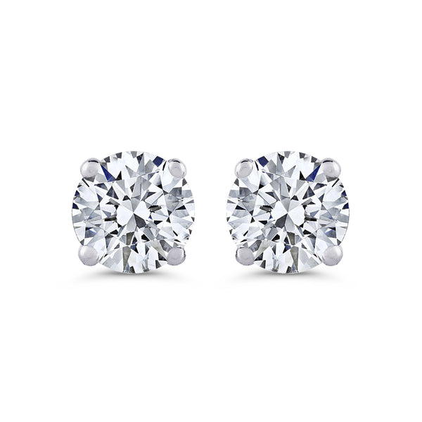 ROUND BRILLIANT DIAMOND STUD EARRINGS (1/3 CTW)