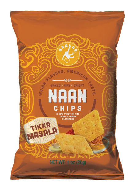 Naan Chips - Tikka Masala - 1 oz bag, set of 12