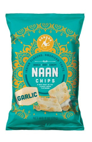 Naan Chips - Garlic - 1 oz bag, set of 12