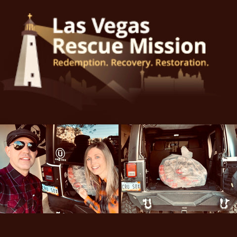 Las Vegas Rescue Mission Sock Donation from CRU SOX