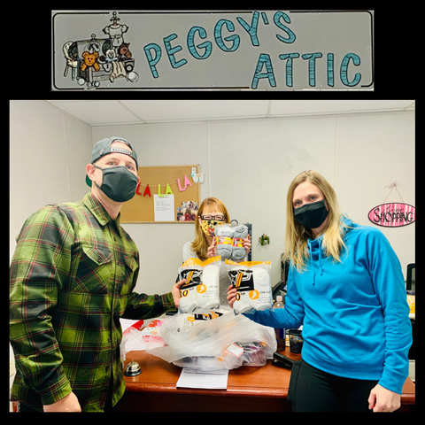 Peggy's Attic Sock Donation from CRU SOX