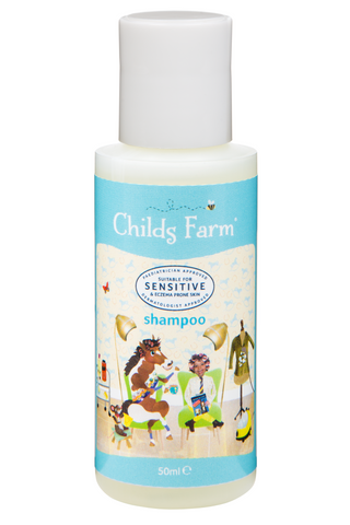 Childs Farm shampoo, strawberry & organic mint