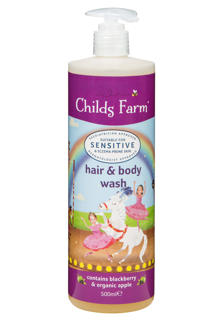 Childs Farm hair & body wash, blackberry & organic apple