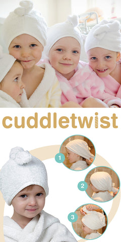 Cuddletwist hair towel by Cuddledry