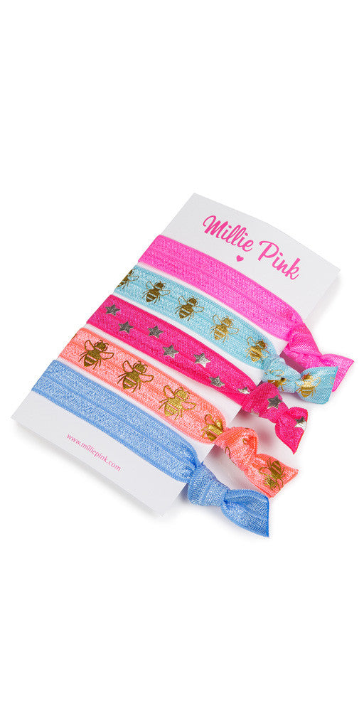 Hair ties by Millie Pinks - Bee nice
