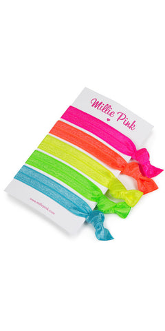 Hair ties by Millie Pink - Neon