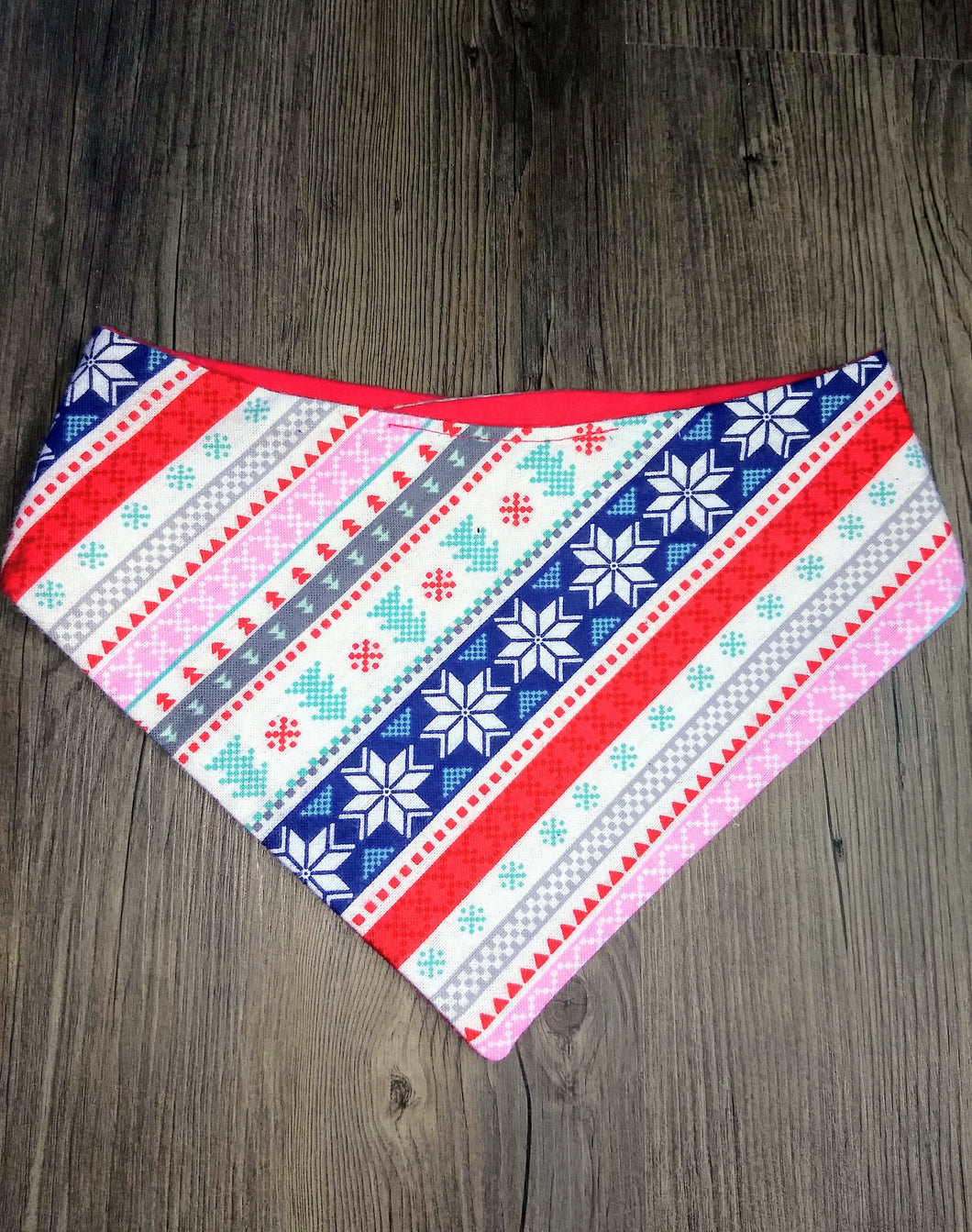 Winter Wonderland Flannel Snap-on Pet Bandana