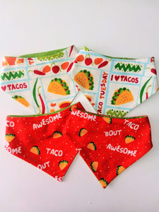 Taco 'bout AWESOME Snap-on Pet Bandana