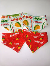 Load image into Gallery viewer, I love Tacos Snap-on Pet Bandana