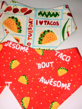 Load image into Gallery viewer, Taco 'bout AWESOME Snap-on Pet Bandana