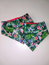 Load image into Gallery viewer, Tropical Flamingo Hawaiian Shirt Snap-on Pet Bandana