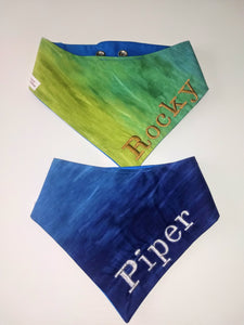 Custom Embroidered water color Ombre Snap-on Bandana
