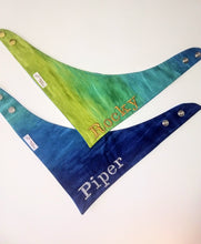 Load image into Gallery viewer, Custom Embroidered water color Ombre Snap-on Bandana
